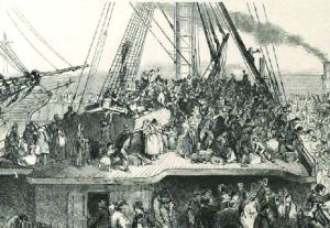 Departure of Emigration Ship. Illustrated London News 6 July 1850: 16.