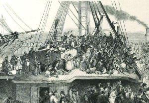 Departure of Emigration Ship. Illustrated London News 6 July 1850: 16.