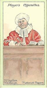 'Mr. Justice Stareleigh.' Players Cigarettes.