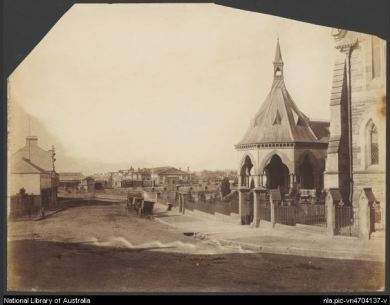 Redfern Mortuary Station. Photo by Charles Bayliss, taken between 1873 and 1880. National Library of Australia.