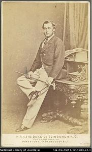 Alfred, Duke of Edinburgh, 1868. National Library of Australia MS51. http://nla.gov.au/nla.ms-ms51-12-1283-s1