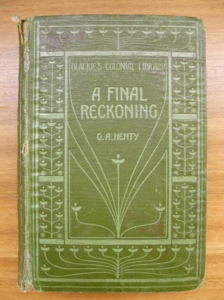 A Final Reckoning. Cover of Blackie's Colonial Library edition.
