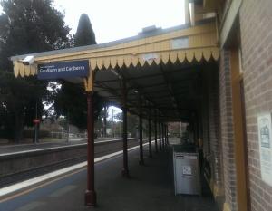 Bowral Station platform
